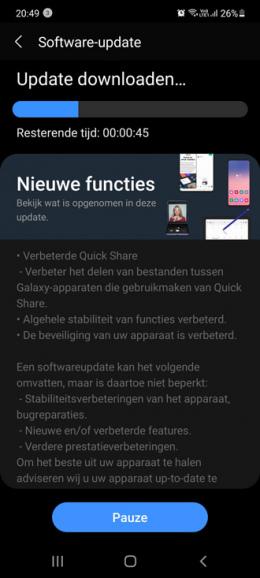 Samsung Galaxy S10 Lite juni 2021 update