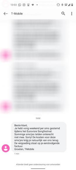 Songfestival SMS stem compensatie