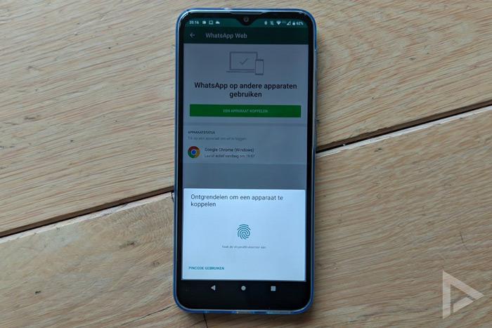 WhatsApp desktop web beveiliging