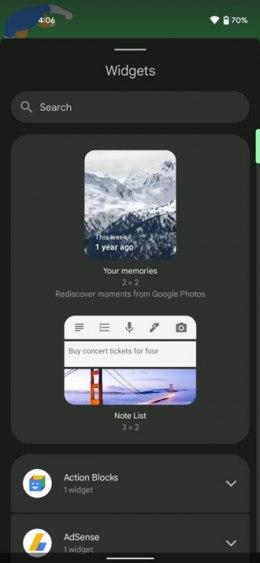 Google Foto's herinneringen widget