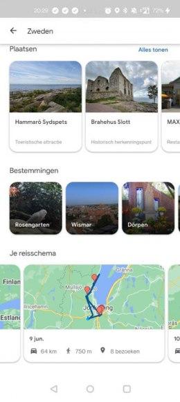 Google Maps tijdlijn reizen