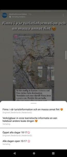 Instagram Stories vertalen