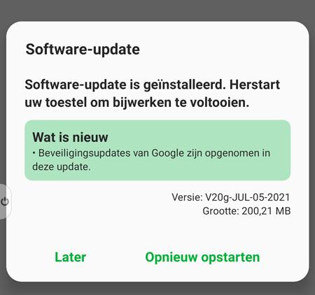 LG Velvet juli 2021 update