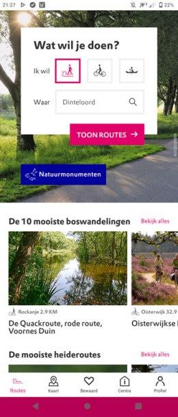 Natuurmonumenten route app