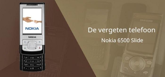 De vergeten telefoon: Nokia 6500 Slide uit 2007