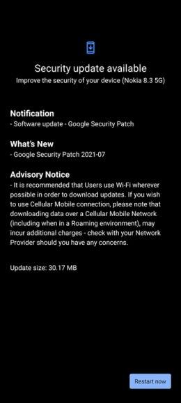 Nokia 8.3 juli update