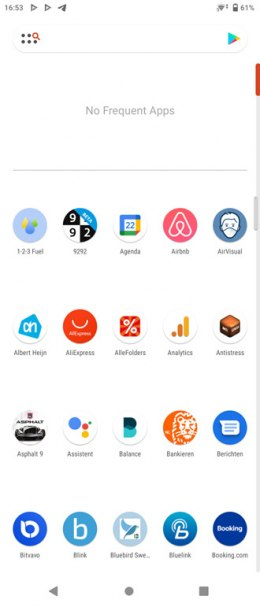 Nova Launcher 7 menu