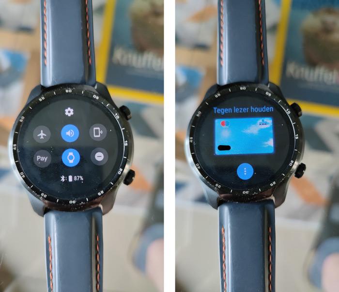Google Pay smartwatch Belgie