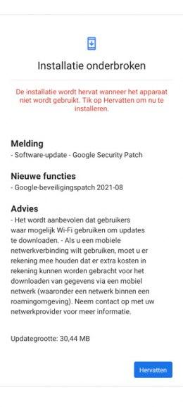 Nokia 5.3 beveiligingsupdate augustus 2021
