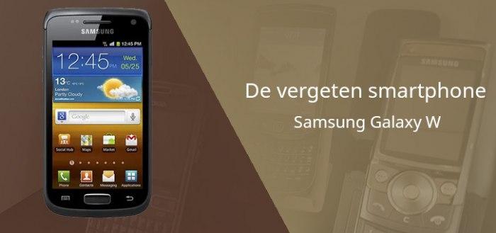 De vergeten smartphone: Samsung Galaxy W (i8150)