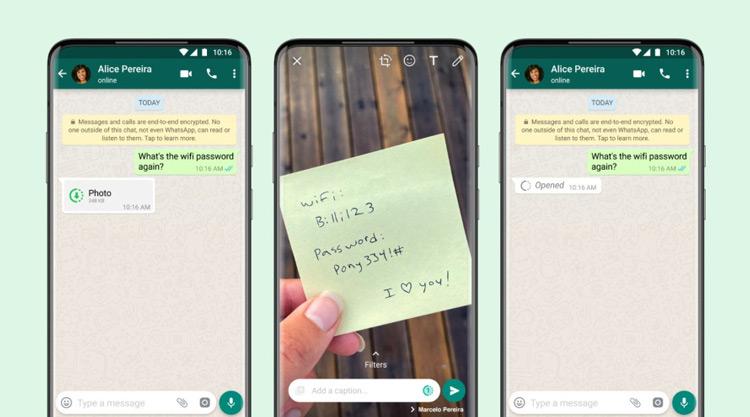 WhatsApp View once eenmalig bekijken