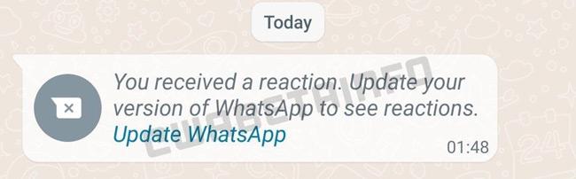 WhatsApp berichtreacties emoji