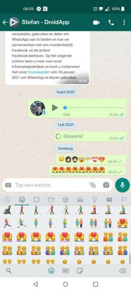 WhatsApp emoji zomer 2021
