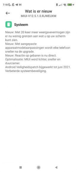 Xiaomi Redmi Note 9S miui 12.5