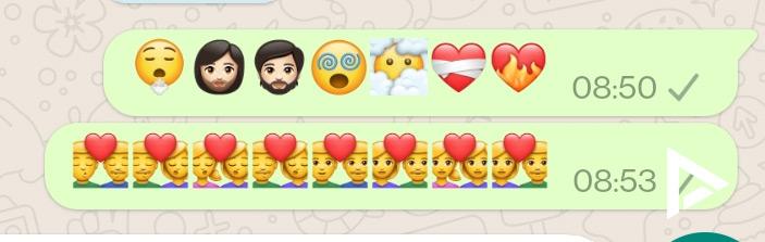 nieuwe emoji whatsapp