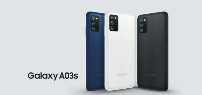 Samsung Galaxy A03s aangekondigd: nieuwe, betaalbare smartphone