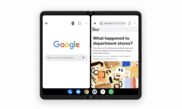 Android 12.1 foldable