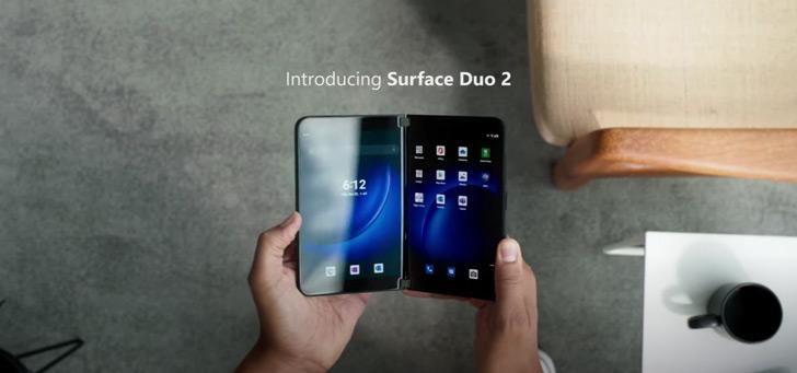 Microsoft Surface Duo 2 officieel: vouwbaar en met Glance Bar