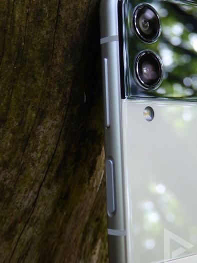 Samsung Galaxy Z Flip 3 vingerafdrukscanner