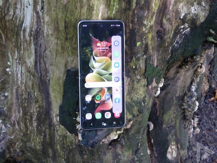 Samsung Galaxy Z Flip 3 edge scherm