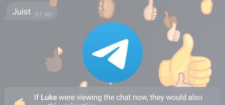 Telegram 8.0.1: interactieve emoji's, individuele thema's en meer