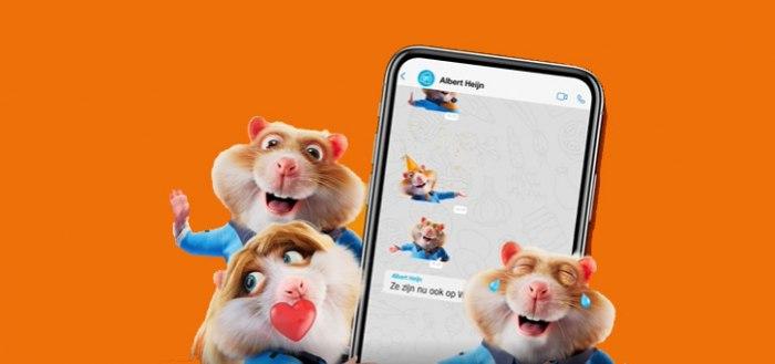 Albert Heijn laat je vanaf nu Hamsterstickers sturen via WhatsApp: zo werkt het